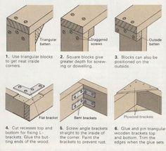 Différentes techniques de jonctions pour assembler deux éléments de bois / #Woodworking: Three Way Joints – Fixing Table Legs