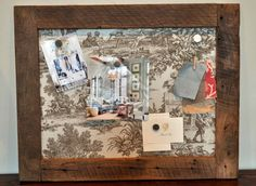 Barn Wood Magnetic Fabric Covered Memory by DohlerDesigns on Etsy, $65.00