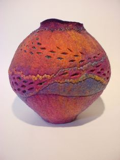 Felted Vessel, Sharon Costell