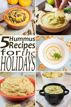 These 5 Hummus Recipes for the Holidays will be sure to please your guests this holiday season.