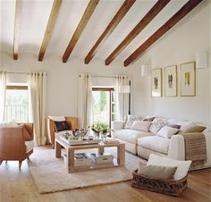 House Tour-Sitting High in the Hills of the Island of Mallorca Spanish Style Homes, Spanish House, Cottage Interiors, Rustic Interiors, Karton Design, Room Partition Designs, Faux Beams, My Dream Home, House Tours