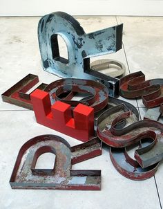 Word Sculptures by Jack Pierson