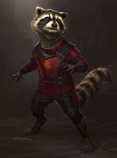 Rocket Raccoon - Guardians of the Galaxy Concept Art by Andy Park