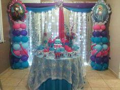 Frozen party theme..