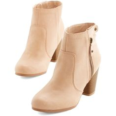 Manhattan Stride Bootie (245 NOK) ❤ liked on Polyvore featuring shoes, boots, ankle booties, heels, booties, pink, boot - bootie, bootie, heeled bootie and heeled ankle booties