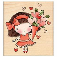 PENNY BLACK RUBBER STAMPS SWEETHEART MIMI VALENTINE STAMP 2012