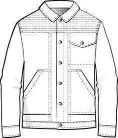 Men\'s Varsity Jacket / American Baseball Jacket Fashion Flat ...
