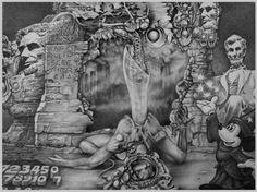 Abramelin;  exquisite corpse by Bernard Dumaine & Elle Gottzi
