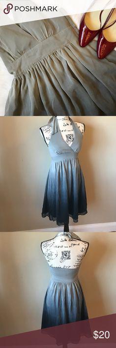Selling this 🔵Ombré halter dress on Poshmark! My username is: melissah99. #shopmycloset #poshmark #fashion #shopping #style #forsale #Express #Dresses & Skirts