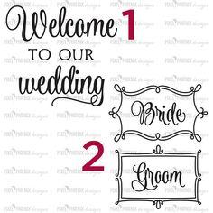 10 wedding decals wedding bundle svg cut files wedding SVG