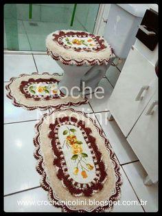 Bad Cover, Bathroom Sets, Tissue Holders, Carpet, Diva, Crochet Carpet, Crochet Batwing Tops, Knitting And Crocheting, Farmhouse Rugs