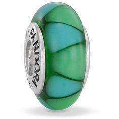Pandora Captivating Green Glass Bead::Green::Colors::Little Treasure Trove