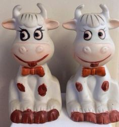 Retro Kitsch collectible novelty cow salt and by TechnicolourRetro, £4.00
