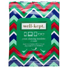What it is:A packette of 15 towelettes to keep personal tech devices clean, resulting in fresh, clear skin.  What it is formulated to do: Well-Kept Screen Cleansing Towelettes are a smart solution to keeping personal tech devices clean and smudge-fr