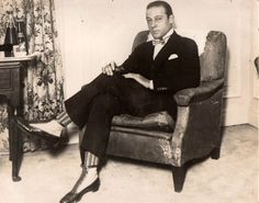 Rudolph Valentino at the Ritz in the early 1920's.