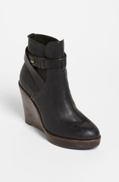 Black Wedge Boots.