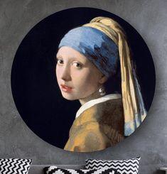 Ronde oude meesters: wandcirkels en muurcirkels HIP ORGNL Masters Iris, Johannes Vermeer, Wands, Holland, Mona Lisa, Poster, Artwork, Painting, Inspiration