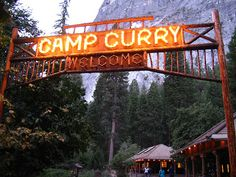Camp Curry in Yosemite. Happy memories of sitting in a big rocking chair with a magazine and my Discman ha ha