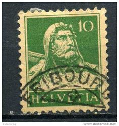 RARE 40 C HELVETIA FRANCO SWISS SUISSE 1915 SEAL FRIBOURG STAMP TIMBRE LOW PRICE - Switzerland