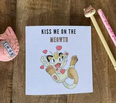 Meowth Pokemon Valentine Cards, Valentines, Geek Culture, The Hobbit, Bookmarks, Are You The One, Nerdy, Birthday Cards, Geek Stuff