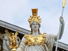Great close up of the Vienna Athena statue. Terrific detail on Nike, breastplate and helm. Athena Greek Goddess, Moon Goddess, Athena Tattoo, Angelina Jolie Movies, Liberian Girl, Ancient Goddesses, Greek Warrior, Aesthetic Women, Film Inspiration