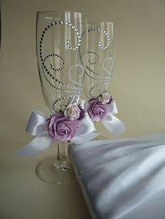 Свадебные бокалы для молодоженов - свадебные бокалы,Декоративные бокалы