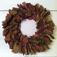 Primitive Fabric Wreath Kristy you need to make this for your mom Thank you