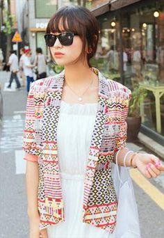 Pink Aztec Inspired Blazer