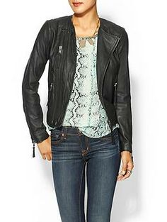 Moto jacket hunt - the one I really wish I could get  Joie Kaylie Leather Jacket | Piperlime