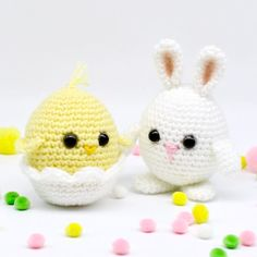 FREE Crochet Baby Chick and Egg Bunny