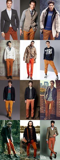 3 Ways To Wear 2014's Winter Orange Trend: 1. Legwear Lookbook Inspiration