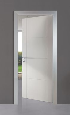 Our hinged doors: the traditional and most frequent door opening system. Hinged doors include door leaves fitted on frames, which are mounted to the wall. The connecting hinges allow the door to move. Interior Door Styles, Door Design Interior, Interior Modern, Design Interiors, Traditional Interior Doors, Double Door Design, Main Door Design, Bedroom Door Design, Home Room Design