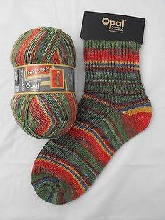Opal Gallery Sock Yarn - Flowers in the Grass (8880) + pattern