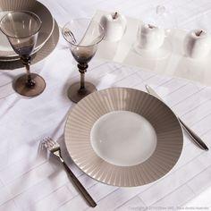 Assiettes plates en porcelaine - Lot de 6 MAT&GLOSSY