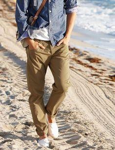 Como usar alpargatas masculinas com calça
