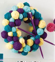 Show your love for yarn with this super cute yarn ball wreath! #joannhandmade