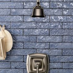 Blue Backsplash or Floor Tiles & Mosaics - Subway, Mosaic, Glass & Clay Tiles, Handmade Tile Backsplash, Ceramic Subway Tile, Light, Subway, Light Denim, Handmade Subway Tile, Handmade Tiles, Best Bathroom Lighting