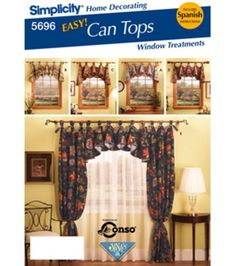 Simplicity Pattern 5696-Window Treatments-One Size