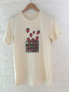 af238afaab8cab Strawberry Shirt Fruit Shirt Food Shirt Screen Printed T Garden Gifts