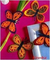 Lots of charted (or French) butterfly patterns