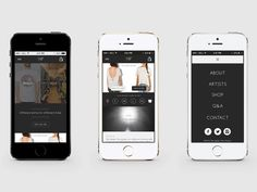 Mobile First User Interface - Spijker Tees