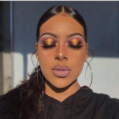 images about Makeup 101 💯🔥🔥💧💧 on We Heart It Eye Makeup, Glam Makeup Look, Makeup Eye Looks, Black Girl Makeup, Dark Skin Makeup, Flawless Makeup, Girls Makeup, Gorgeous Makeup, Pretty Makeup