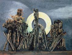 """1927 MAX ERNST Der große Wald Frottage Kunstsammlung Basel __________________________________ Ereignisse der Geschichte: Martin Heidegger: """"Sein und Zeit"""""""