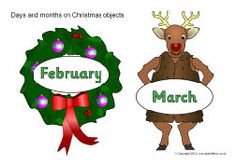 Days and months on Christmas objects