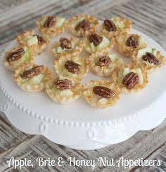 Apple, Brie & Honey Nut Appetizers!