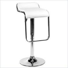 white bar stool...more modern...not sure