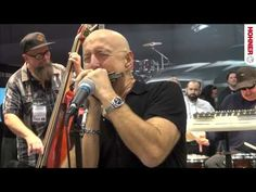 Kim Wilson of Fabulous Thunderbirds fame performs at the 2013 NAMM Show in the Hohner booth.