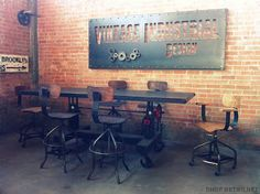 $450/Chair Vintage Industrial Inspired Furniture Seating