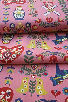 Japanese Trefle Kokka Scandinavian Fabric - 1 Yard. $20.00, via Etsy.