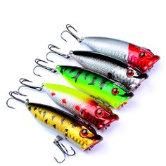 5PCS 7.3cm 11g Hard Bait Minnow Fishing Lures Bass Fresh Salt Water 6#hook #Affiliate